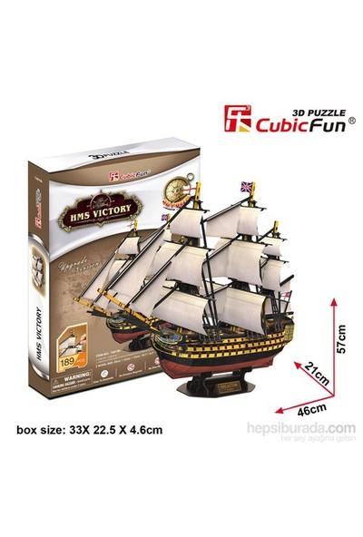 Cubic Fun 3D 189 Parça Puzzle Hms Victory