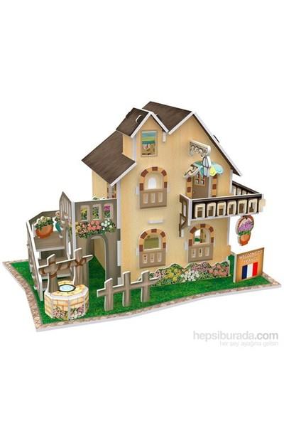 Cubic Fun 3D 36 Parça Puzzle French Garden Cottage