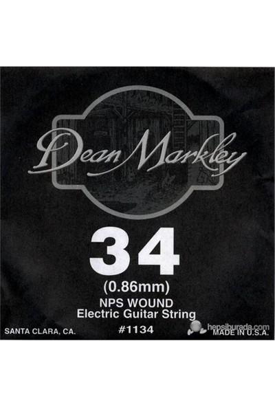 Dean Markley Nickel Steel Wounded .034 Elektro Gitar Telleri
