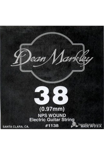 Dean Markley Nickel Steel Wounded .038 Elektro Gitar Telleri