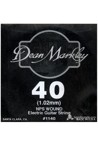 Dean Markley Nickel Steel Wounded .040 Elektro Gitar Telleri