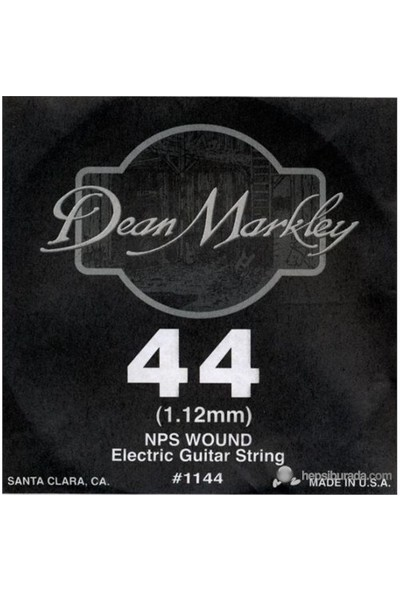 Dean Markley Nickel Steel Wounded .044 Elektro Gitar Telleri