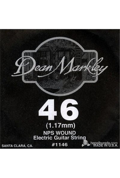 Dean Markley Nickel Steel Wounded .046 Elektro Gitar Telleri