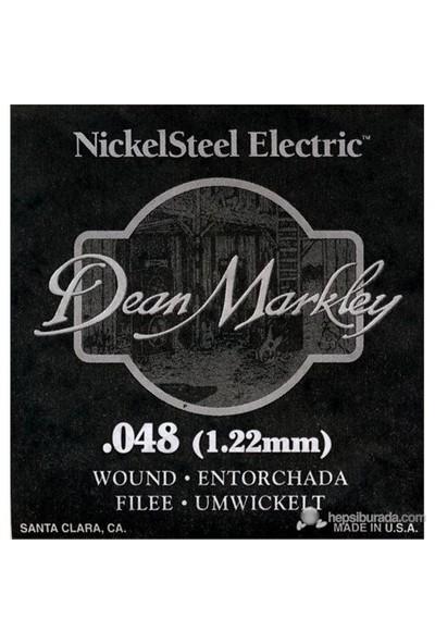 Dean Markley Nickel Steel Wounded .048 Elektro Gitar Telleri