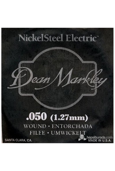 Dean Markley Nickel Steel Wounded .050 Elektro Gitar Telleri