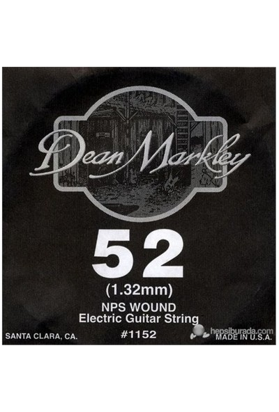 Dean Markley Nickel Steel Wounded .052 Elektro Gitar Telleri