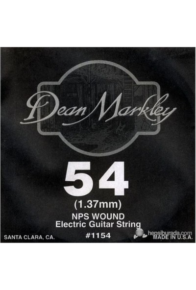 Dean Markley Nickel Steel Wounded .054 Elektro Gitar Telleri