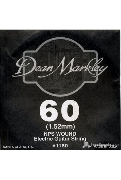 Dean Markley Nickel Steel Wounded .060 Elektro Gitar Telleri