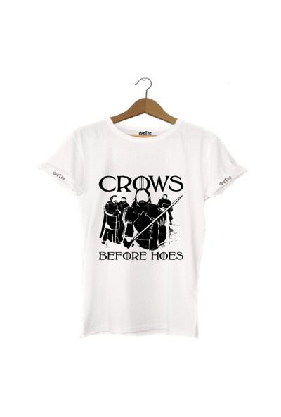 Dyetee Crows Before Hoes Bayan T-Shirt