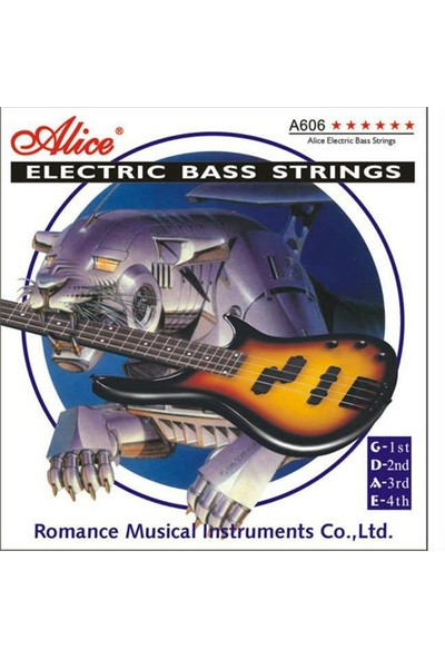 Alice A606-4M 4 Telli Bas Gitar Tel 045-0105