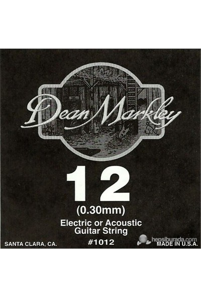 Dean Markley Plain Single .012 Elektro Gitar Telleri