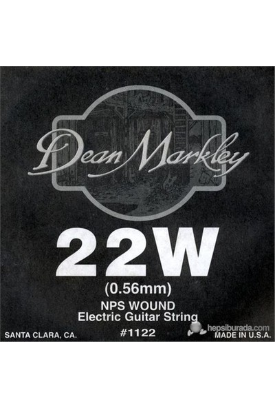 Dean Markley Nickel Steel Wounded .022 Elektro Gitar Telleri