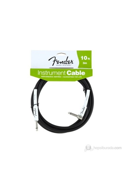 Fender 10 Performance Instr. Cable, Angled, Bk