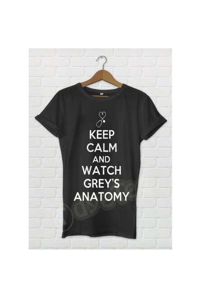 Dyetee Greys Anatomy Keep Calm Bayan T-Shirt