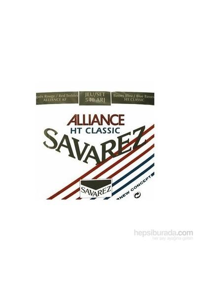 Savarez 500ARJ Alliance Hard Tension Classic Rouge Blue Klasik Gitar Teli
