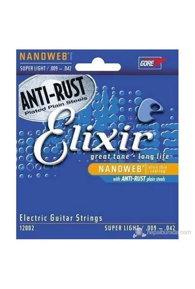 Elixir 12002 Nanoweb Super Light Elektro Gitar Teli (9-42)