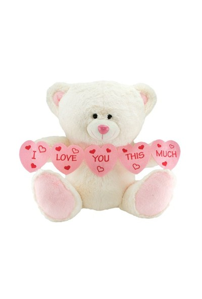 Neco Plush I Love You Thıs Much Kalpli Peluş Ayı 55 cm