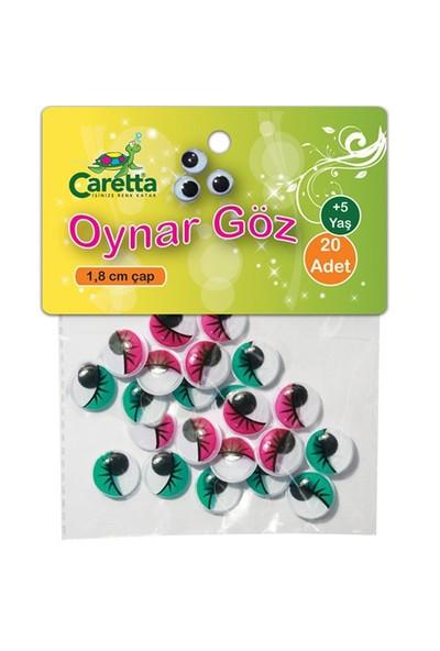 Caretta Oynar Göz 1,8 Cm 4 Farklı Renk