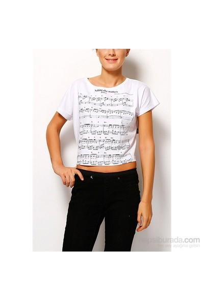 Köstebek Metallica Note Kadın T-Shirt