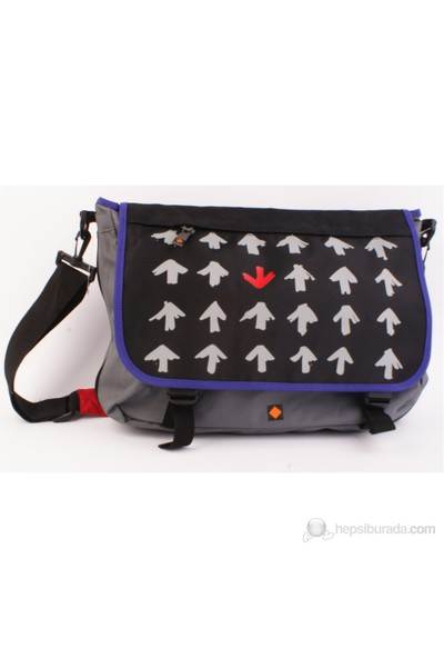 Umix My Way- Siyah/gri postacı çantası