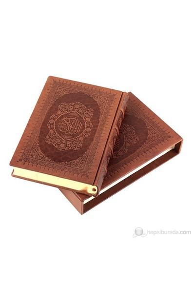 Kur'an-ı Kerim Hakiki Deri Cilt (Orta Boy - Klasik Kutu)