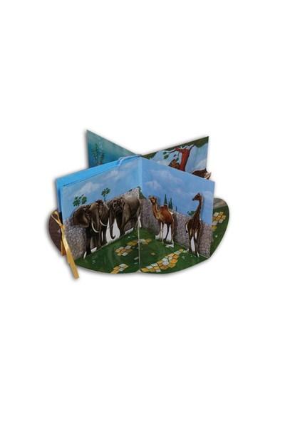 Selen İle Eren - 3 Boyutlu Hayvanat Bahçesi (Hareketli Kitap)-Kolektif