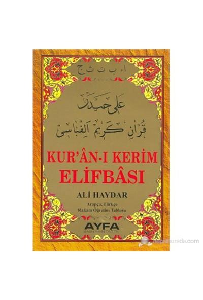 Kur'an-ı Kerim Elifbası (Kod: 015) (Ali Haydar Arapça, Türkçe Rakam Öğretim Tablosu) - Ali Haydar