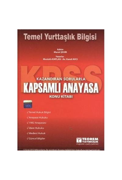 Teorem KPSS Kapsamlı Anayasa (Temel Yurttaşlık Bilgisi) Konu Kitabı