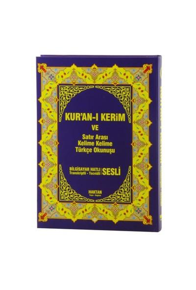 Kur'An-I Kerim Ve Satır Arası Kelime Kelime Türkçe Okunuşu (Rahle Boy- Sesli)-Kolektif