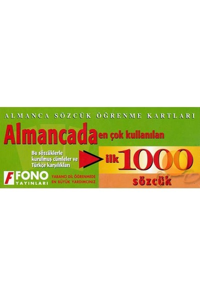 Fono Almancada İlk 1000 Sözcük Kartları