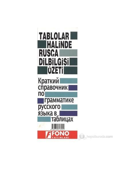 Tablolar Halinde Rusça Dilbilgisi Özeti-Kolektif