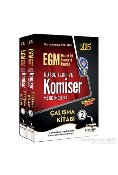 Kitapseç 2015 Egm Rütbe Terfi Ve Komiser Yardımcılığı 2 Cilt Çalışma Kitabı-Mustafa Kemal Tolunay