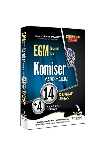 Kitapseç 2016 Egm Komiser Yardımcılığı 14+4 Deneme-Mustafa Kemal Tolunay