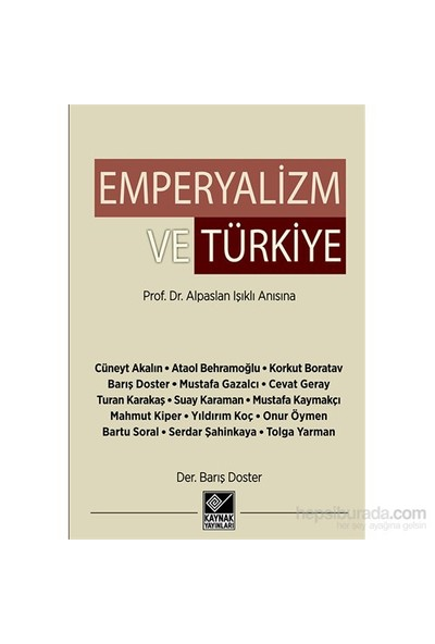 Emperyalizm Ve Türkiye-Suay Karaman
