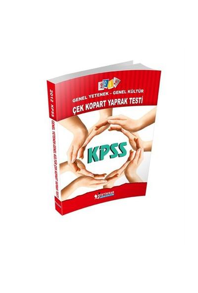 İstikrar KPSS Genel Yetenek – Genel Kültür Çek Kopart – Yaprak Test