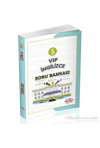 Editör 5.Sınıf Vip İngilizce Soru Bankası-Hasret Gürbüz