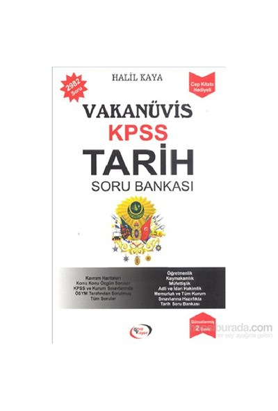 Vakanüvis Kpss Tarih Soru Bankası - Halil Kaya