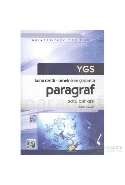 FDD YGS Paragraf Soru Bankası - Konu Özetli Örnek Soru Çözümlü - Durak Gezer