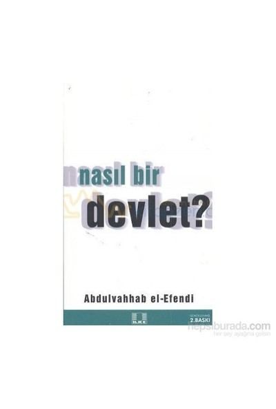 Nasıl Bir Devlet-Abdulvahhab El Efendi