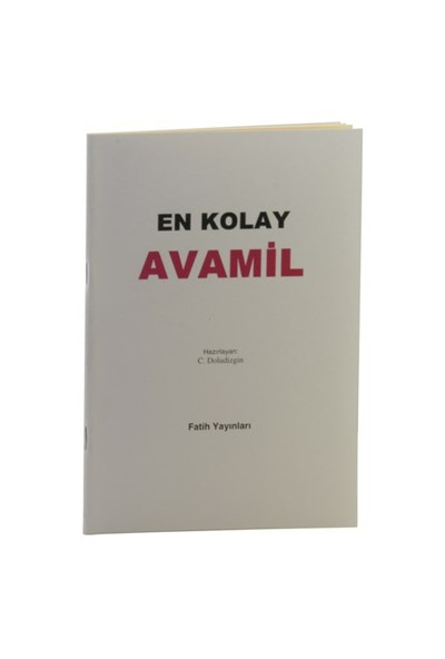 En Kolay Avamil-C. Doludizgin