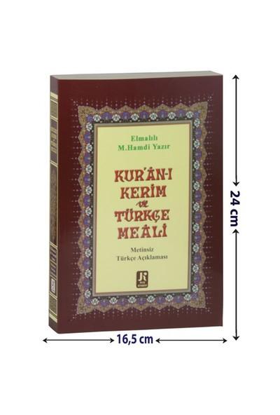 Kur'An-I Kerim Türkçe Meali Metinsiz (Orta Boy)
