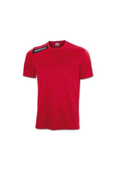 Joma 1239.98.63 Victory S/S T-Shirt Red Black Erkek Formalar