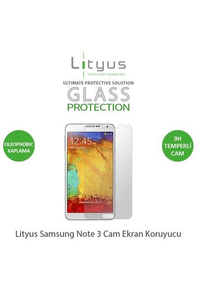 Lityus Samsung Note 3 Cam Ekran Koruyucu - AKLGPSN3