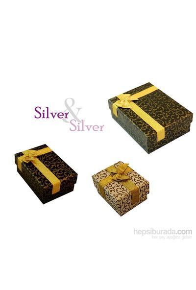 Silver & Silver 3 ct Zirkon Taşlı Tektaş Kolye, Küpe Set