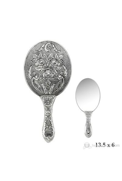 Gumush 925 Gül Motifli El Aynası Kr2550017