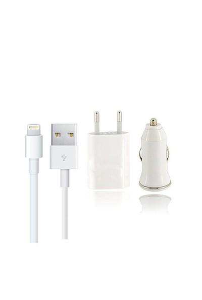 Case 4U Apple iPhone Şarj Aleti - iPhone Şarj Kablosu - Araç Şarjı - Ev ve Araç Şarj Seti