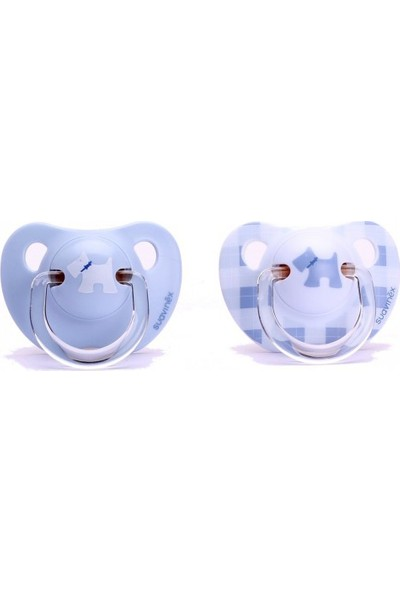 Suavinex Scottish Evolution Silikon Ortodontik Emzik 6 + Ay Mavi 2' Li