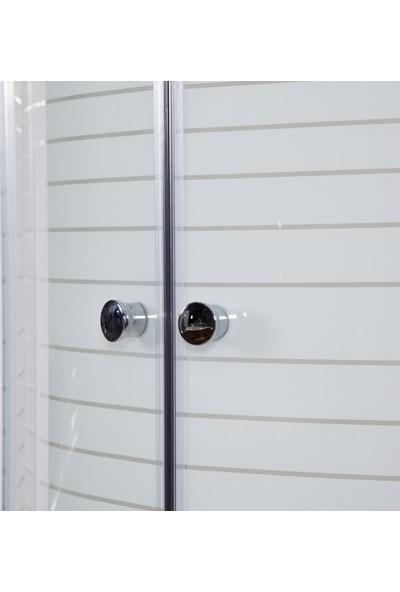 Hepsi Home 904C Duş Teknesi ve Çizgili Duşakabin 90x90 cm