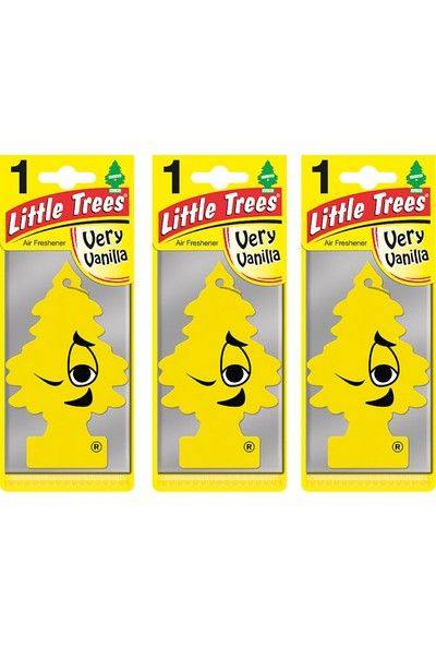 Car Freshener Little Trees Kağıt Koku Very Vanilla 3 adet