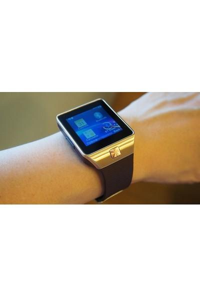 Elegante Oro Watch Sim Destekli TuruncuOnline Zarif Gold Saat Bluetooth